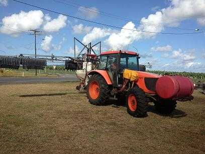 Tractors for sale QLD MX125 Kubota Tractor and Croplands Boomspray