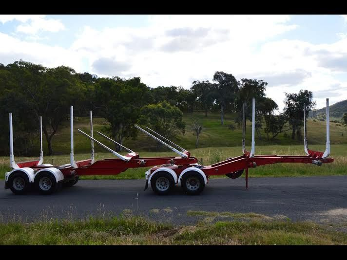 Kennedy 3 Bay Mini B-Double Log Trailers for sale NSW