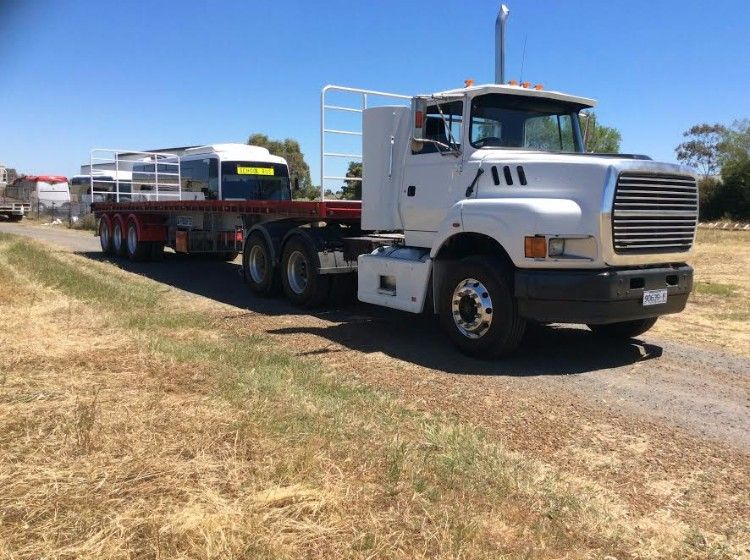 Freighter Triaxle Trailer & Ford Aeromax Truck for sale Vic