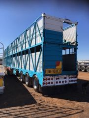 1993 Byrne B Double Cattle Crate Trailer for sale NSW Dubbo