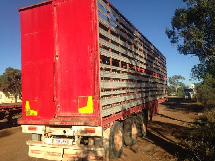 40 Foot Tri-Axle McGrath Stock Crate Trailer for sale QLD