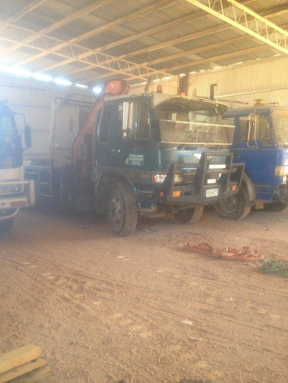 Hino Tray-top Front Mount Crane Truck for sale SA