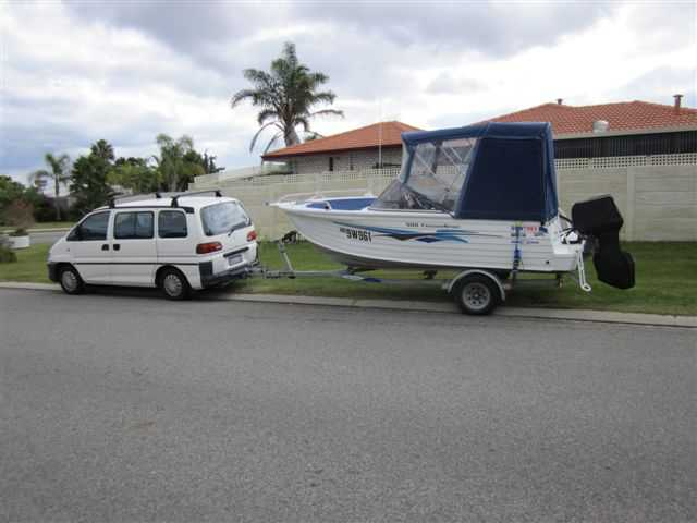 Boat for sale WA Quintrex Freedom Sport 500 and Mitsubishi Starwagon