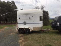 1994 Olmpic 2 Horse Straight Load Float for sale Vic Bonegilla