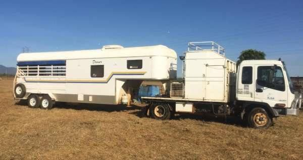 Isuzu truck 4 Horse Goose-neck Horse Transport for sale NSW