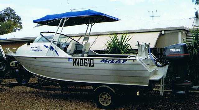 McLay 5.85m Alloy Boat for sale QLD Hervey Bay