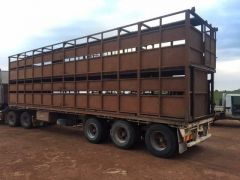 1989 Haulmark double deck cattle trailer for sale SA Balaklava