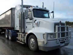 Lusty TOA Single Tipper Trailer Kenworth T408 Truck for sale VIC Colac