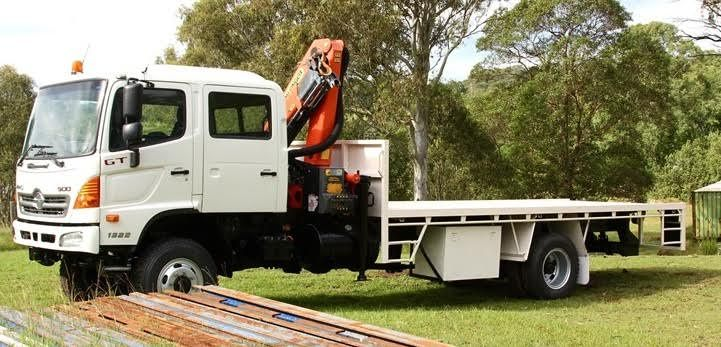 Hino Dual Cab GT500 Series 1322 Crane Truck for sale QLD