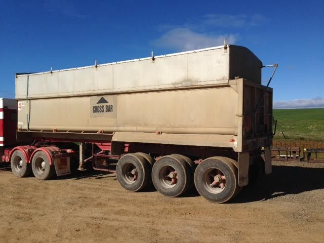 28 Foot Tri-Axle Aluminium Chassis Tipper Trailer for sale Tanunda SA