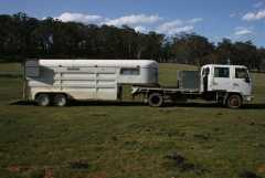 Isuzu Dual Cab 7 Seater Truck, Bueno 4 Horse Gooseneck Float Horse Transport for sale NSW